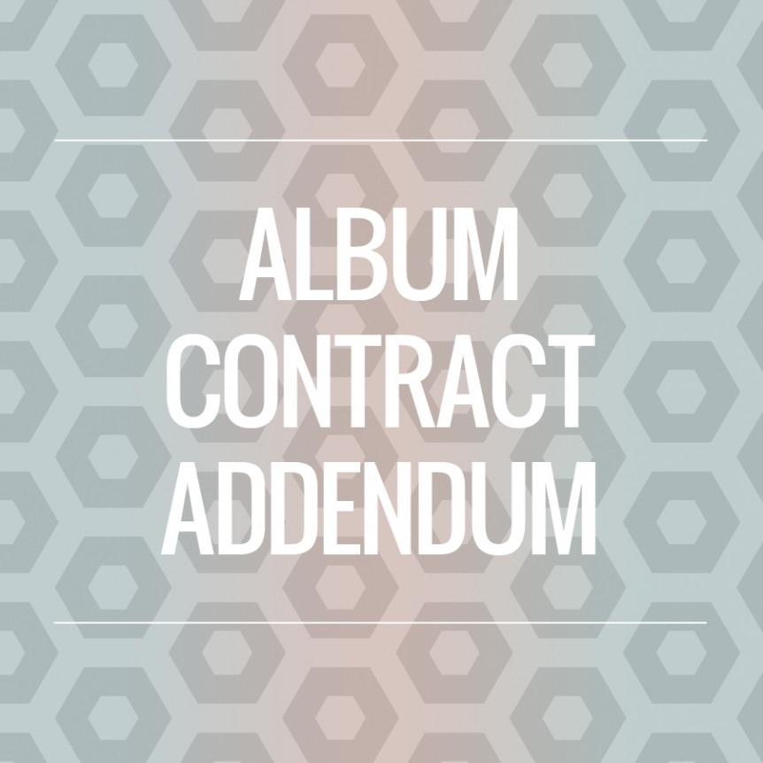 wedding album contract