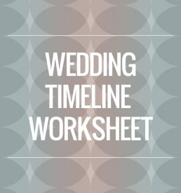 wedding timeline info sheet