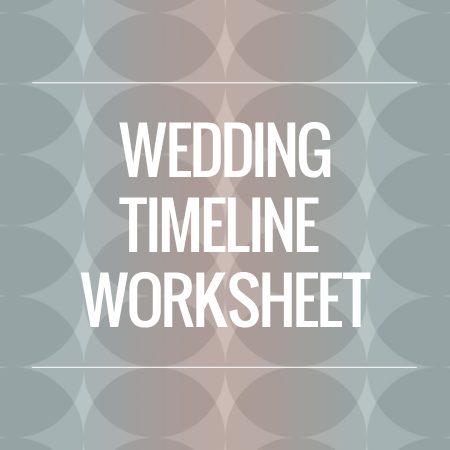 wedding timeline info sheet