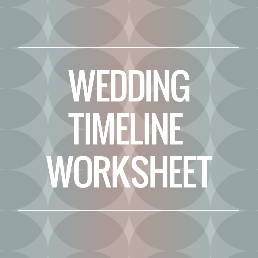 customizable wedding timeline template the shoot space