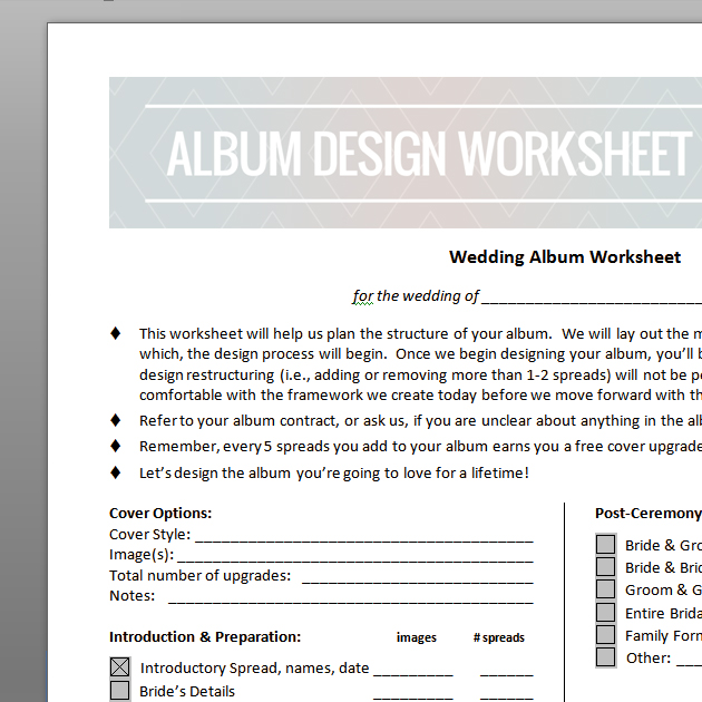 picture regarding Worksheet Design called Marriage ceremony Al Style Worksheet Academic Online video