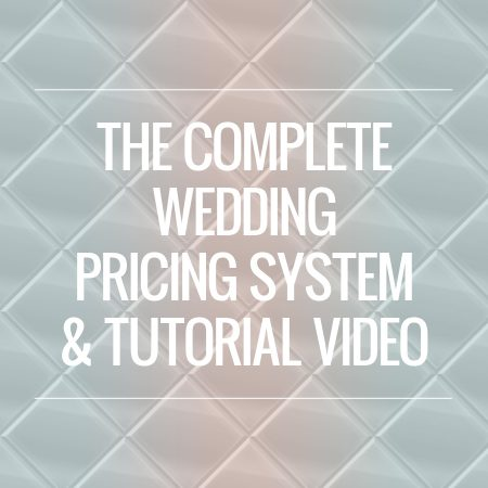 wedding pricing system tutorial