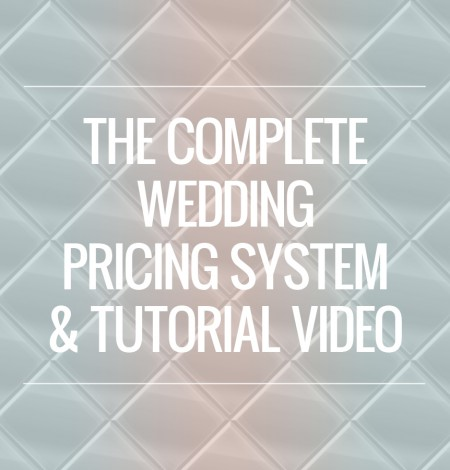 wedding pricing system tutorial