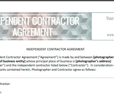 Independent Contractor Agreement  The Shoot Space