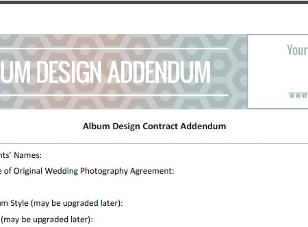 Album Design Addendum 1