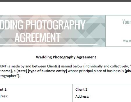 Wedding Photography Contract 1