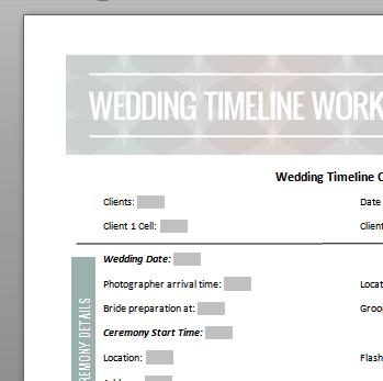 Wedding Timeline image 2