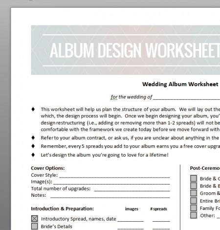 album worksheet image