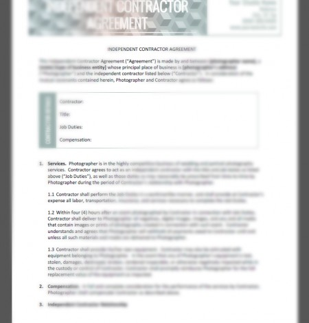 independent contractor agreement 2