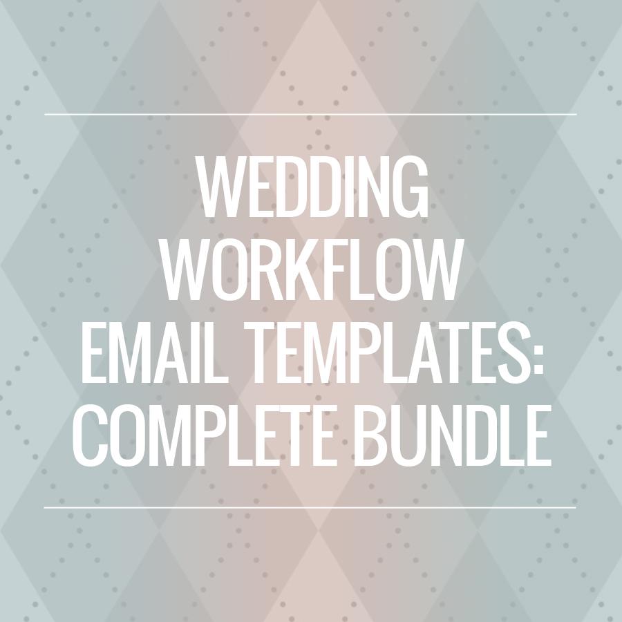 the wedding workflow complete email template bundle. Black Bedroom Furniture Sets. Home Design Ideas