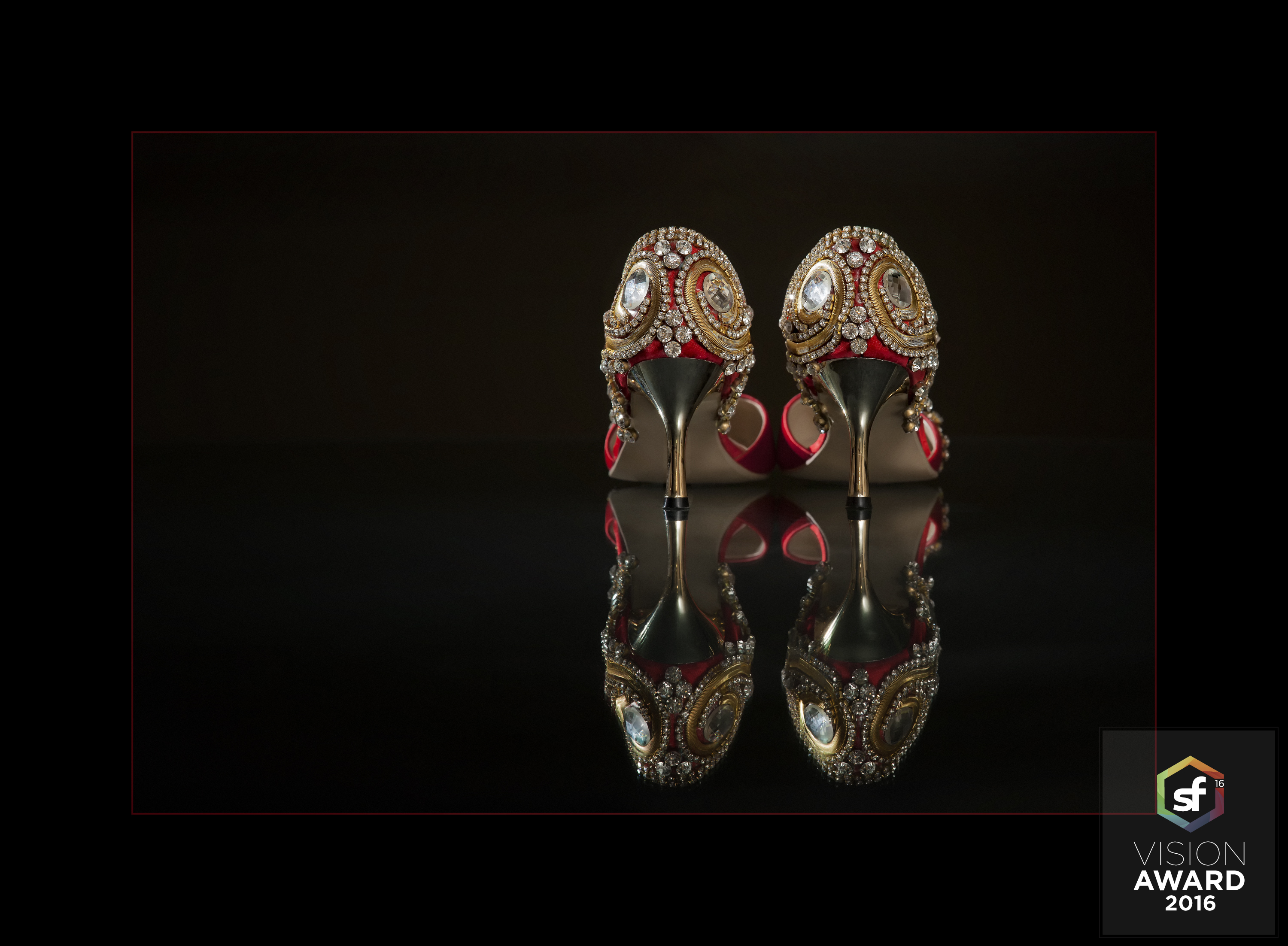 """The Bridal Shoes of Mrs. Patel"" Photographer: Lori Unruh Score: 86 Award: First Place, Wedding Details"