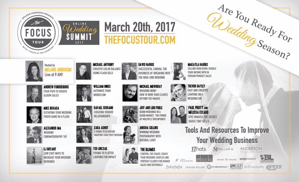 The Focus Tour Online Wedding Photography Webinar Summit
